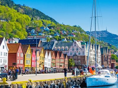 Bergen: beautiful city on the west coast of Norway