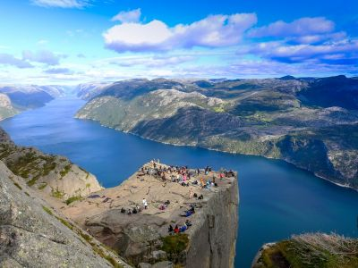 Visit Stavanger and hike to the spectacular cliff of Preikestolen