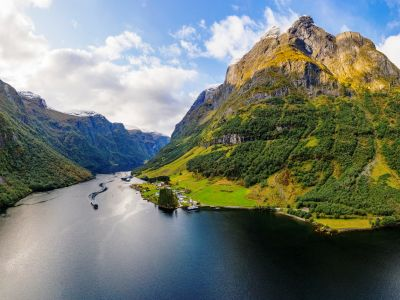 The Sognefjord, the king of the fjords in Norway