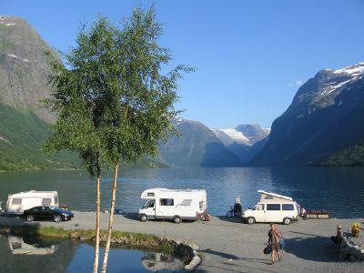 Campsites in Sogn og Fjordane near Olden, Stryn, Nordfjord