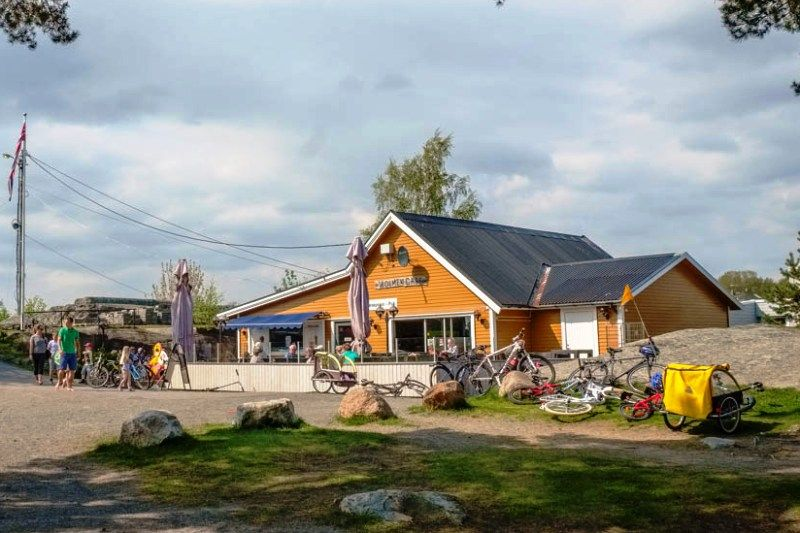Granholmen Camping Sandefjord gezellig terras