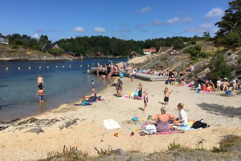 Kristiansand Feriesenter strandje