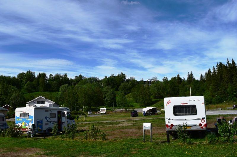 Mo i Rana Camping kampeerplaatsen