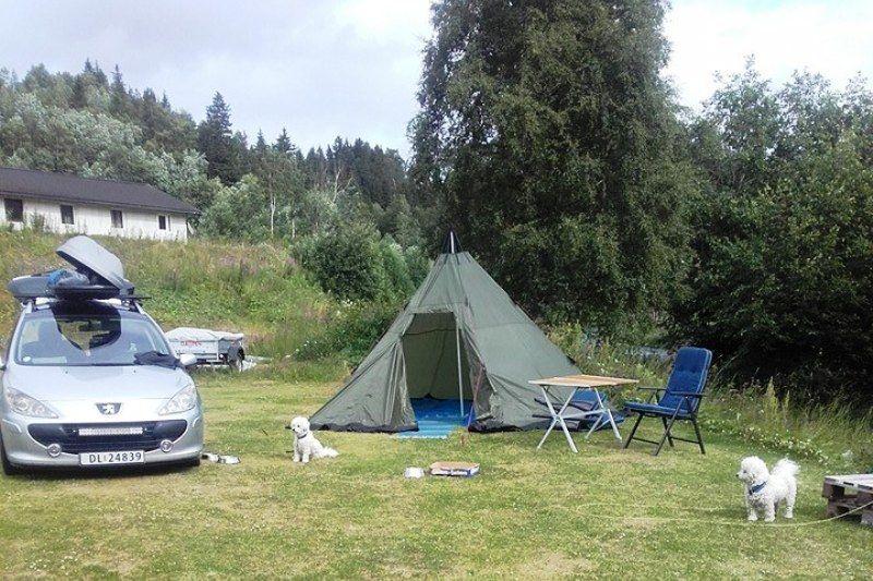 Mo i Rana Camping tentplaatsen