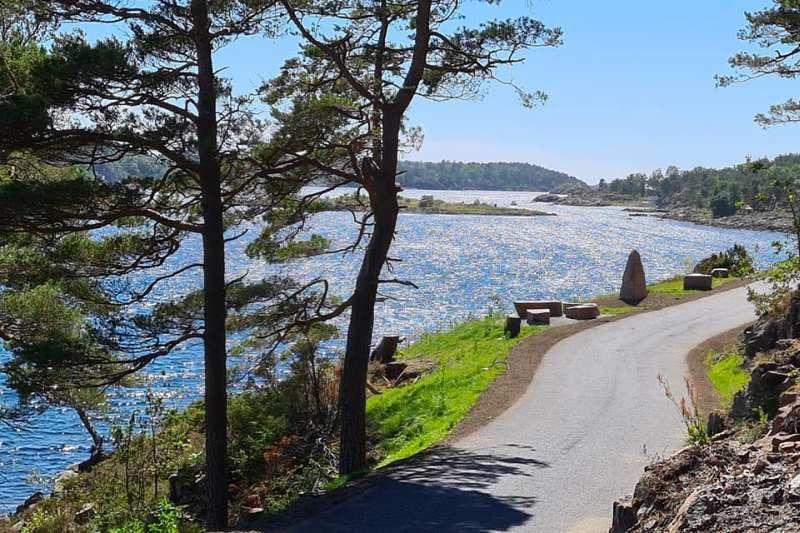 Moysand Familiecamping Grimstad wandelpad