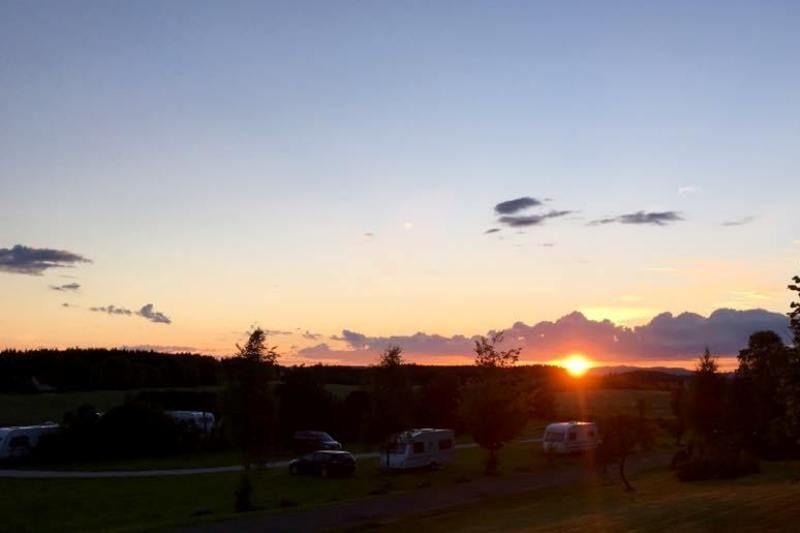 Olberg Camping ondergaande zon