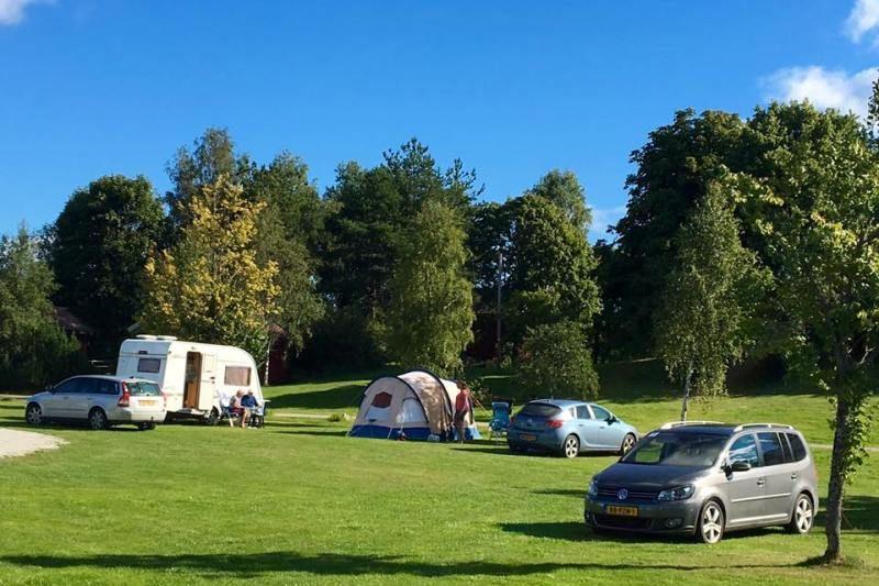 Olberg Camping tentplaatsen op gras