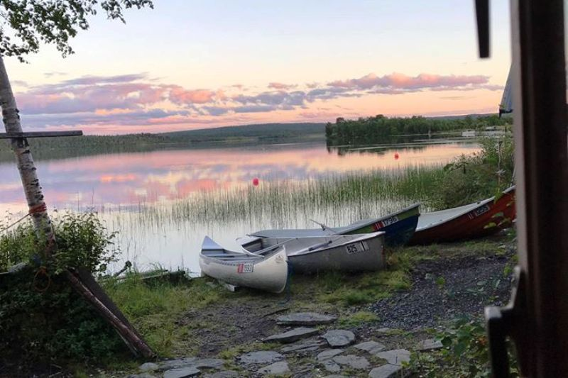 Ovre Pasvik Camping ligging aan meer