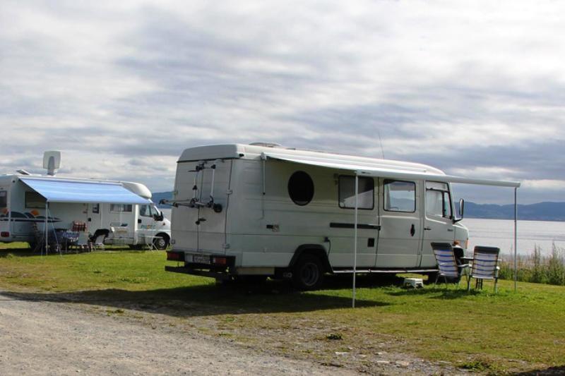 PlusCamp Hauganfjaera Camping uitzicht op Trondheim