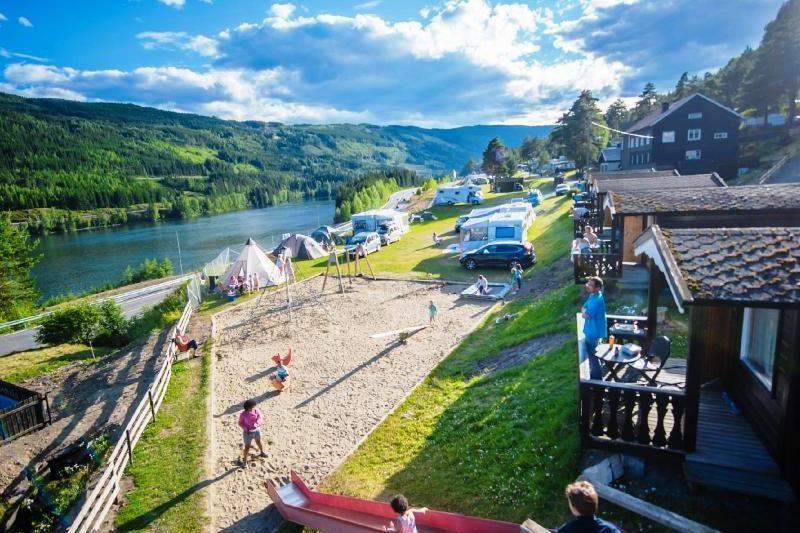 PlusCamp Rustberg Camping hytter en uitzicht