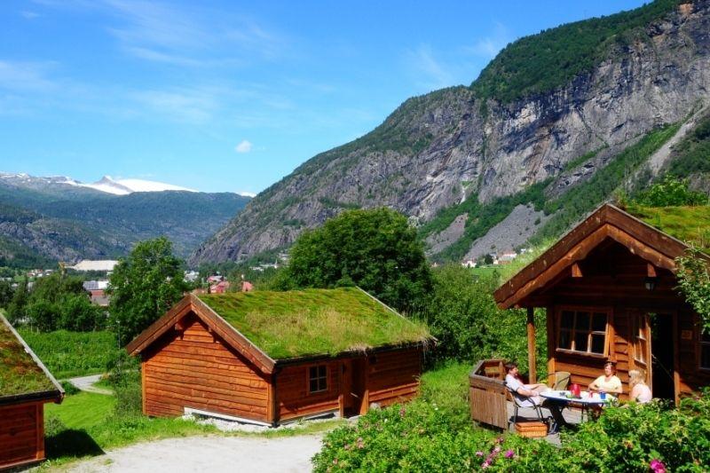 PlusCamp Sandvik Gaupne hytter met geweldig uitzicht