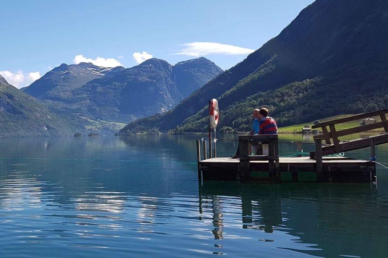 PlusCamp Strynsvatn Camping genieten bij het meer