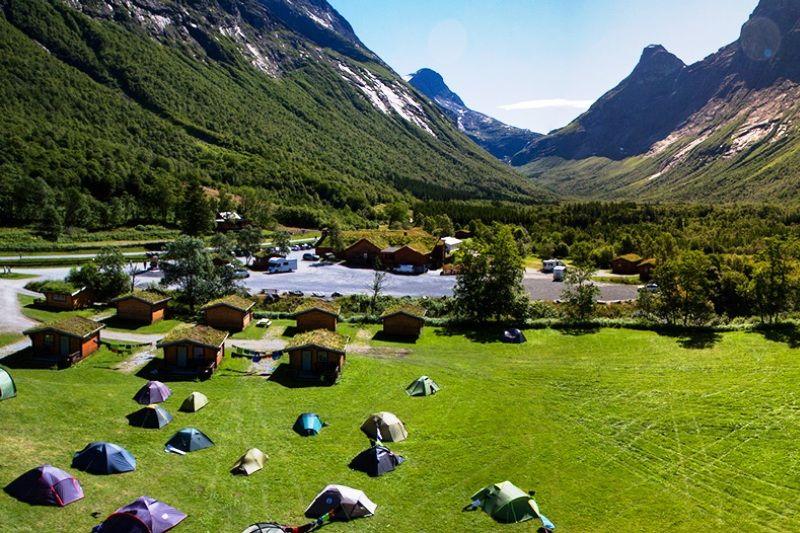 PlusCamp Trollstigen Camping og Gjestegard ligging