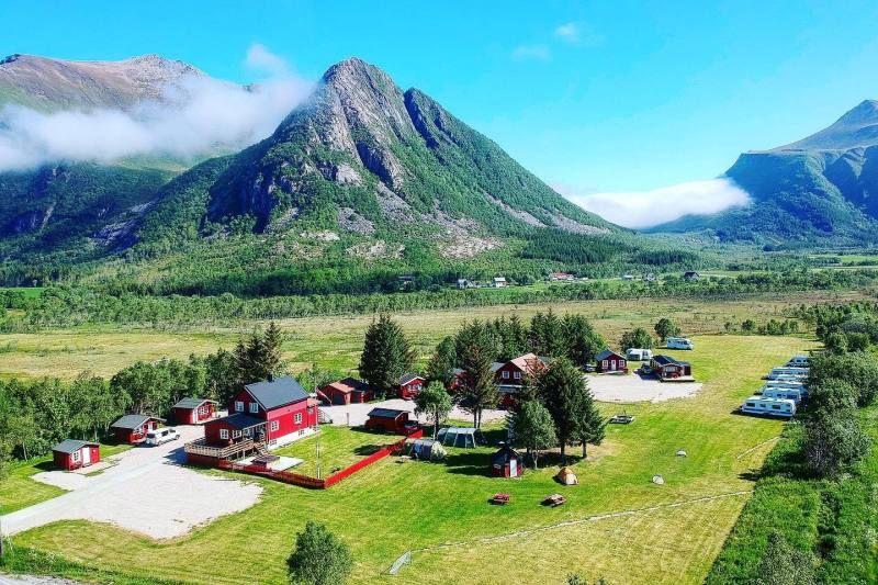 Reipa Camping Kystriksveien ligging