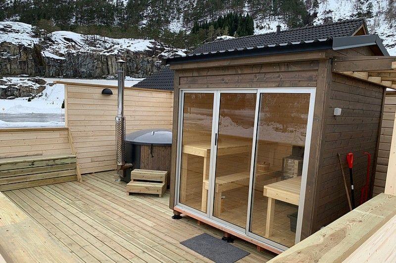 Rullestad Camping sauna en hottub