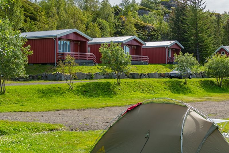 Sandvika Fjord og Sjohus Camping hytter Lofoten