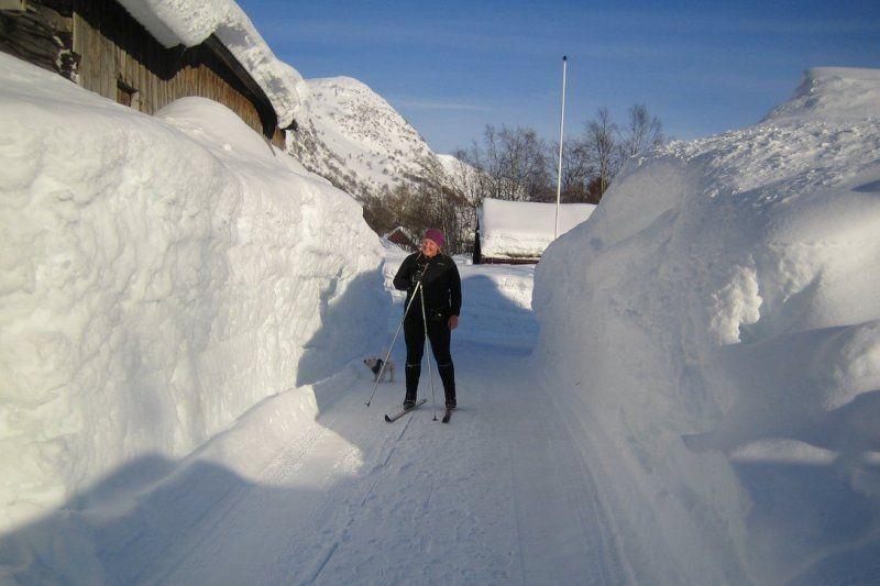 Wintersport op Seim Camping Roldal