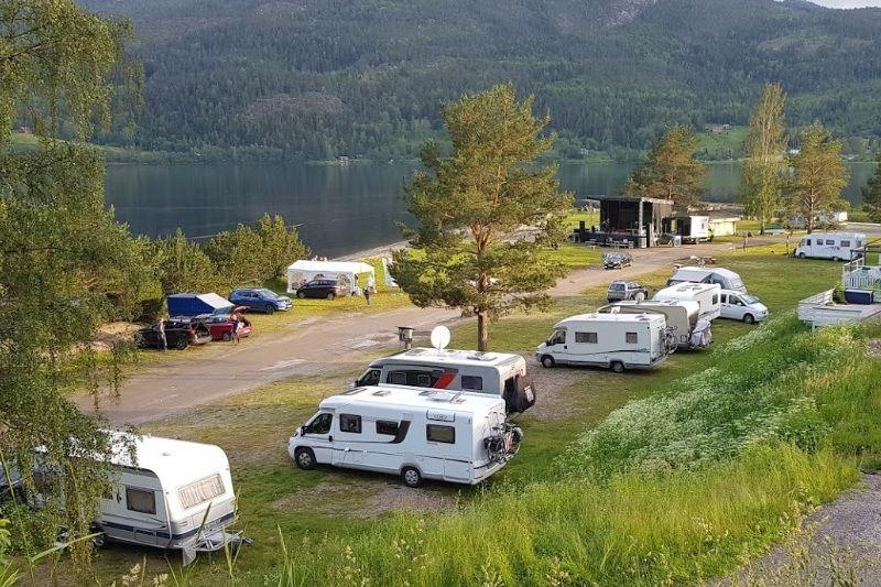 Seljord Camping kamperen aan het water