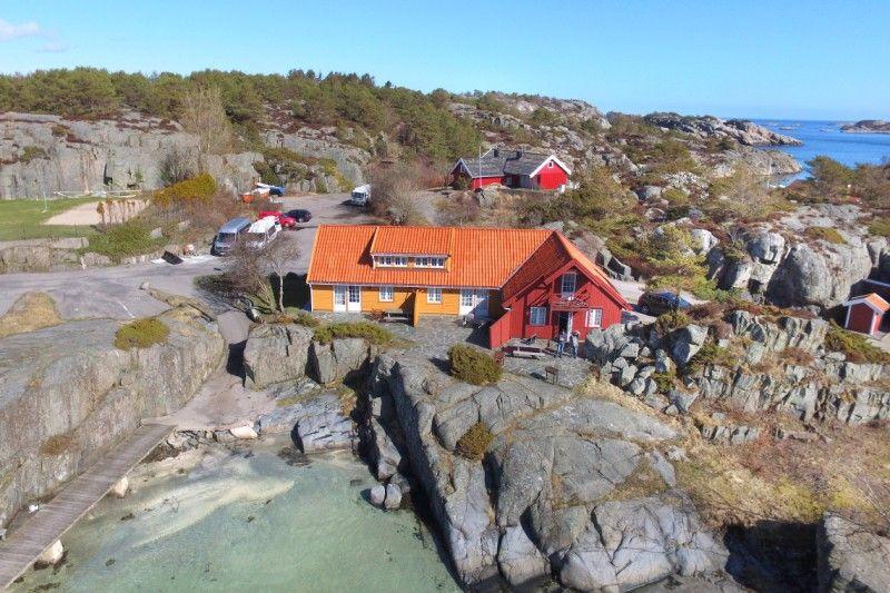 Skottevik Feriesenter ligging aan zee