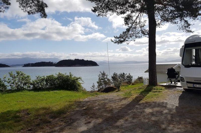 Sponavik Camping uitzicht