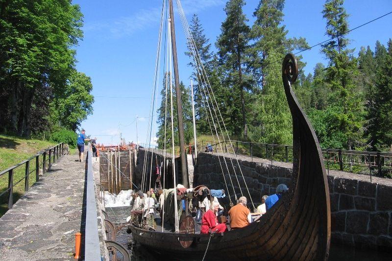 Telemark Kanalcamping sluizen