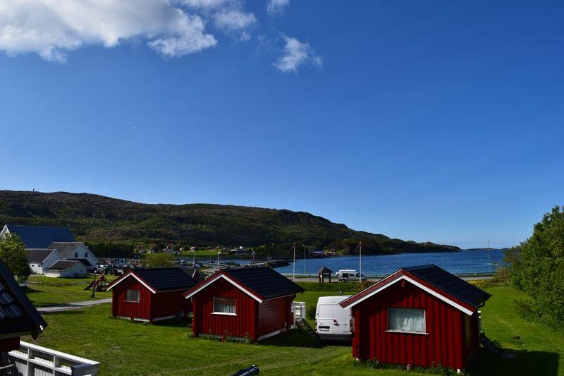 Vennesund Camping hytter en uitzicht